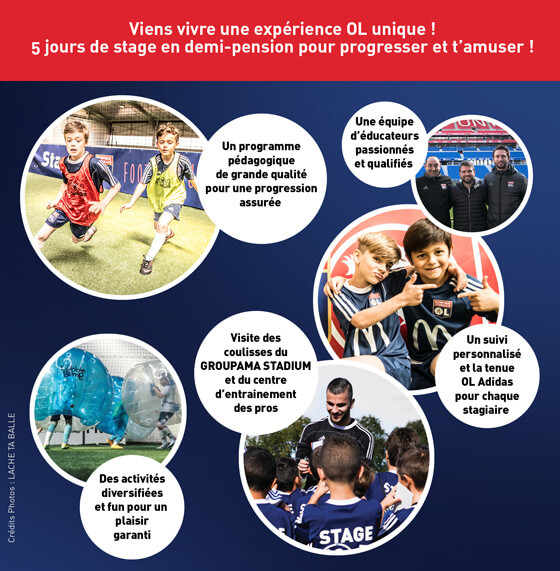 Incription au stage de foot Olympique Lyonnais